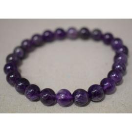 Bracelet en perles d'Améthyste foncée