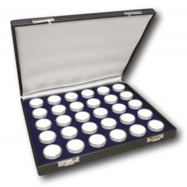 Etui de luxe avec 30 boîtes rondes 27 mm