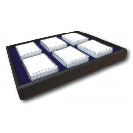 Plateau avec 6 boites (80 x 55 x 20 mm)