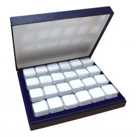 Coffret avec 24 boites carrées 24 boites SE03 de 19x19mm