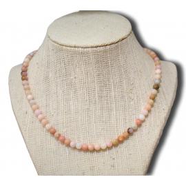 Collier en opale rose