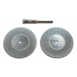 Jeu de 2 mini disques diamantés de 25mm de diamètre