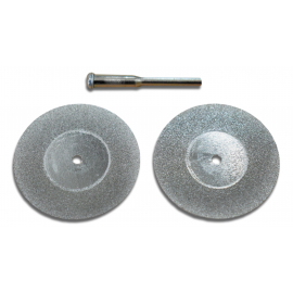 Jeu de 2 mini disques diamantés de 30mm de diamètre