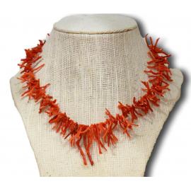 Collier en braches de Corail rouge