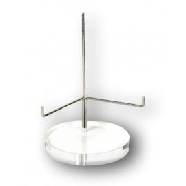 Présentoir plexiglas et métal Ø 80 mm, hauteur 120mm