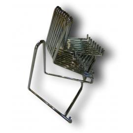 Chevalets métallique chromé, largeur de 135 mm lot de 10 pièces