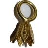 Clochette en argent dorée avec anneau monté, paquet de 100 pièces
