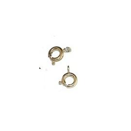 Fermoir anneau fantaisie doré, 10 pièces