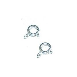 Fermoir anneau fantaisie argenté 10 pièces