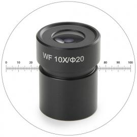 Oculaire grand champ WF10x/20 milimétré