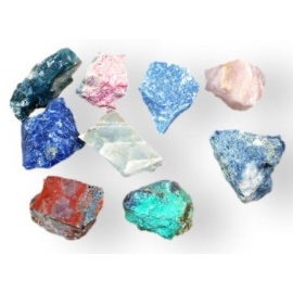 Une sélection de pierres brutes